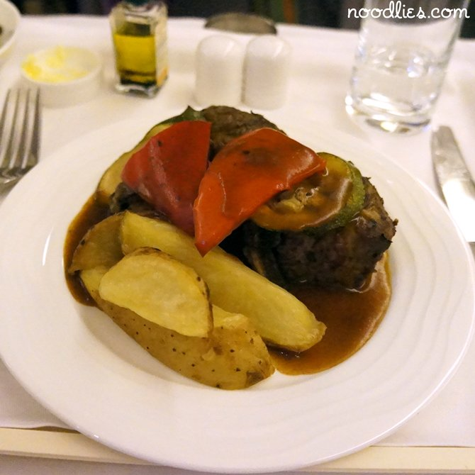 emirates business class lamb chop