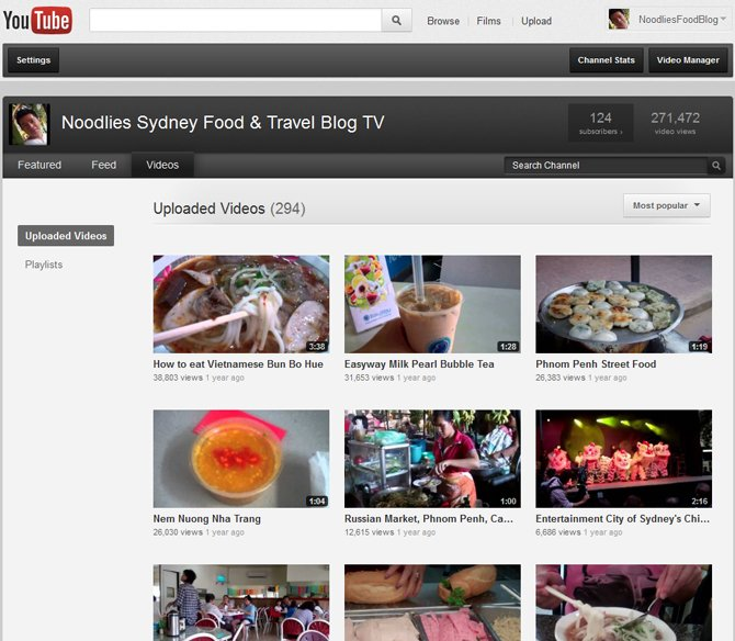 noodlies food blog youtube channel