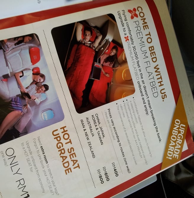 air asia on board upgrade