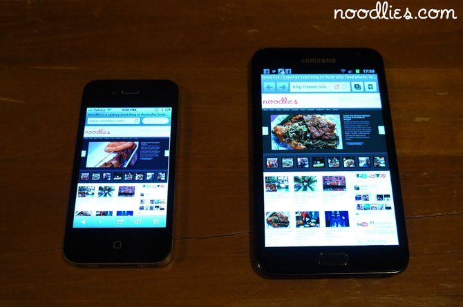 samsung galaxy note vs apple iphone