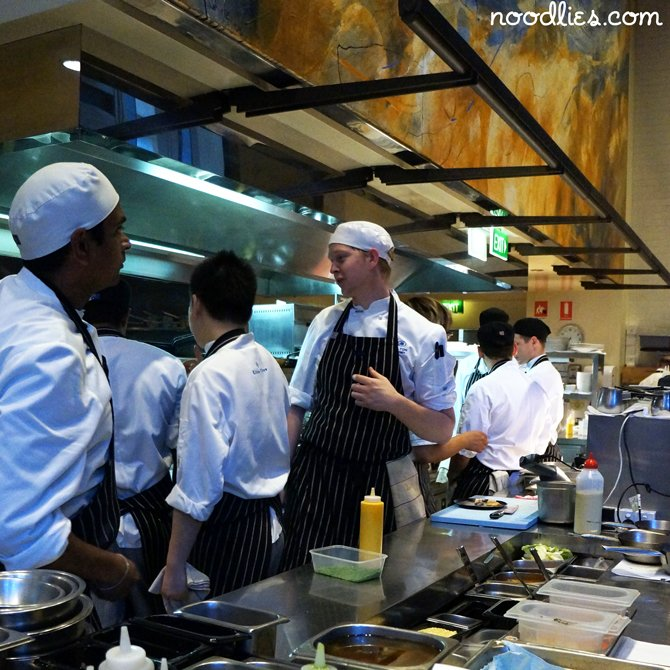 glass brasserie kitchen hilton hotel sydney