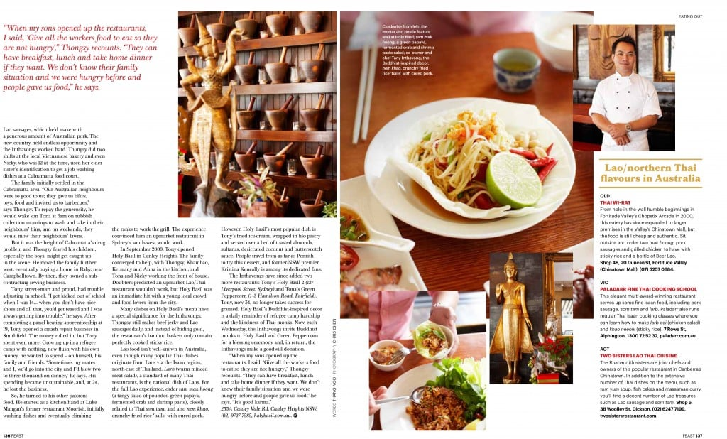 holy basil sbs feast magazine may 2013 page 2