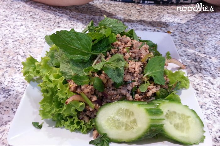 papaya kitchen beef larb