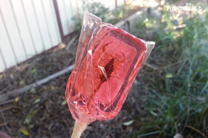 scorpion lollipop