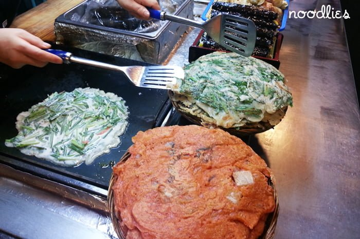 korean pancakes street food