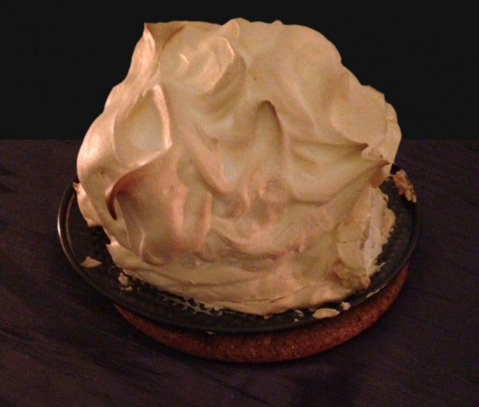 Game of Thrones Themed Dinner Menu Baked Alaska White Walkers Dessert 2