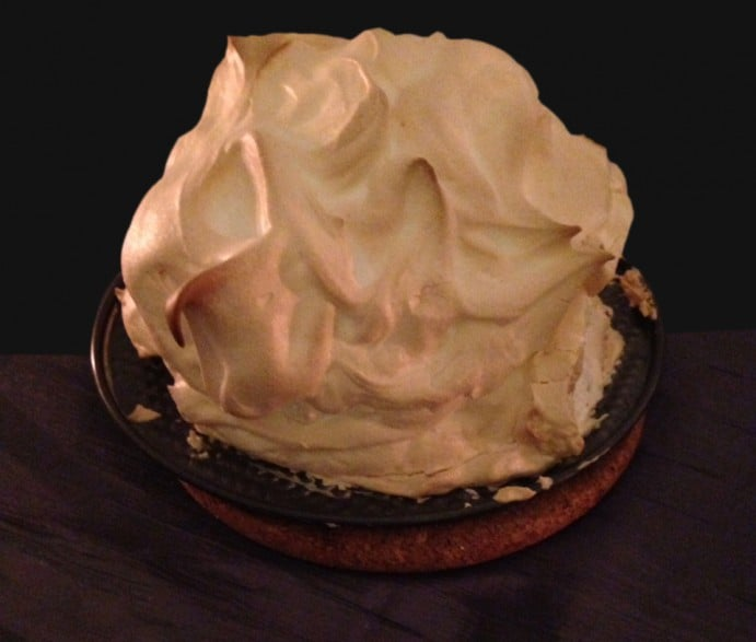 Game of Thrones Themed Dinner Menu Baked Alaska White Walkers Dessert