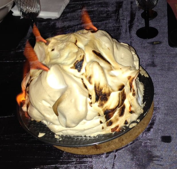 game of thrones themed dinner menu flame baked alaska