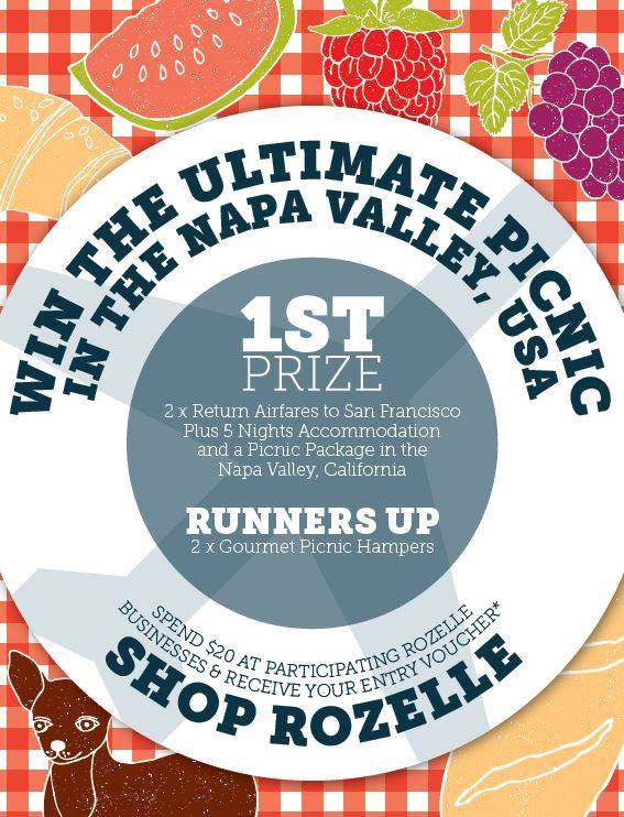 Rozelle Village Fair win a picnic in the Napa Valley