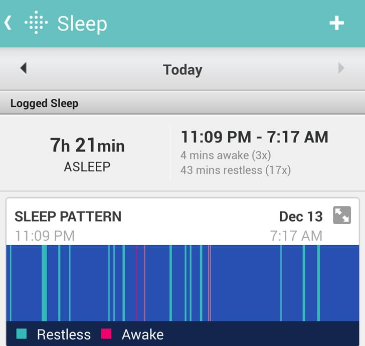 fitbit charge sleep tracking
