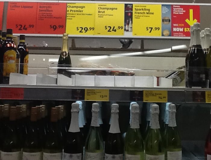 Is Aldi Cheaper For Your Christmas Shopping Aldi Champagne Empty Shelves