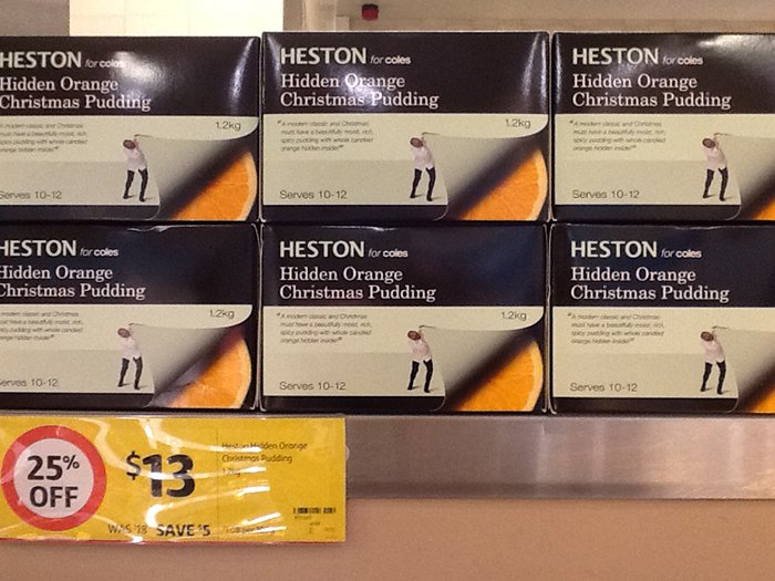 Is Aldi Cheaper For Your Christmas Shopping Coles Heston Hidden Orange Christmas Pudding