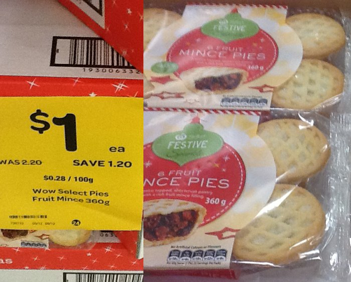 Is Aldi Cheaper For Your Christmas Shopping Woolworths Mince Pie