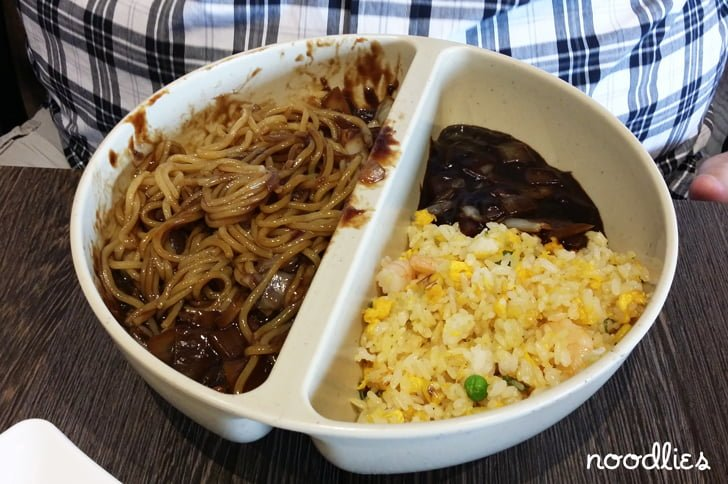korean chinese noodles fried rice with black bean sauce