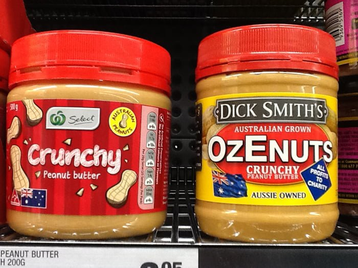 Is shopping for Australian Aussie products more expensive Peanut Butter