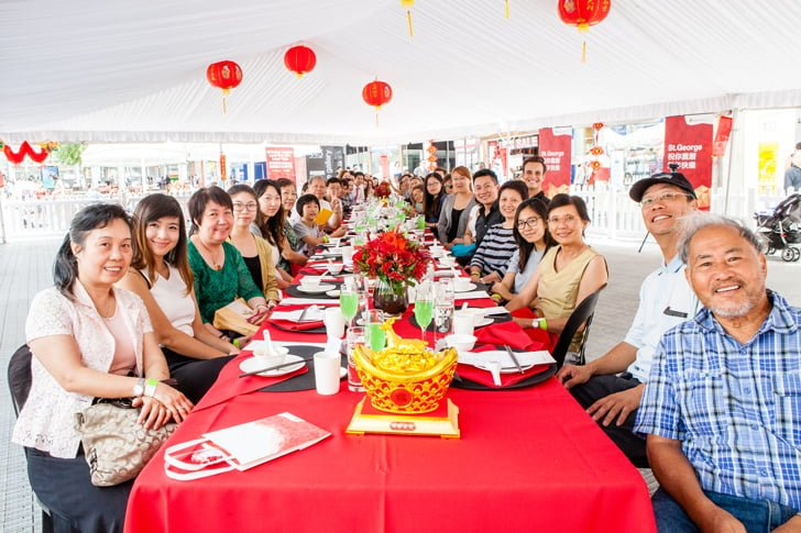 St.George Australia's Longest Lunar New Year Lunch Table