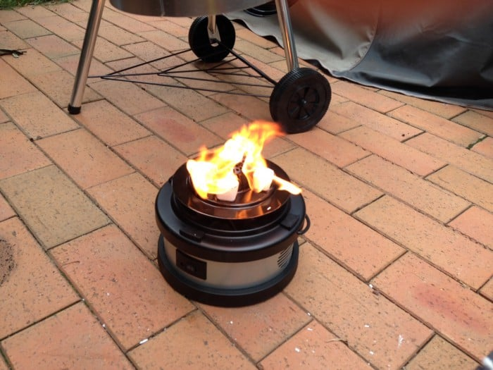 Heat Beads BBQ Chimney Booster lit authentic Barbeque Barbecue in 12 minutes review