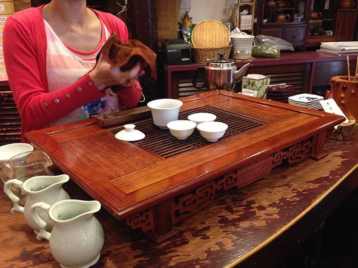 Little Adventures Food Tour Hong Kong tea shop 1