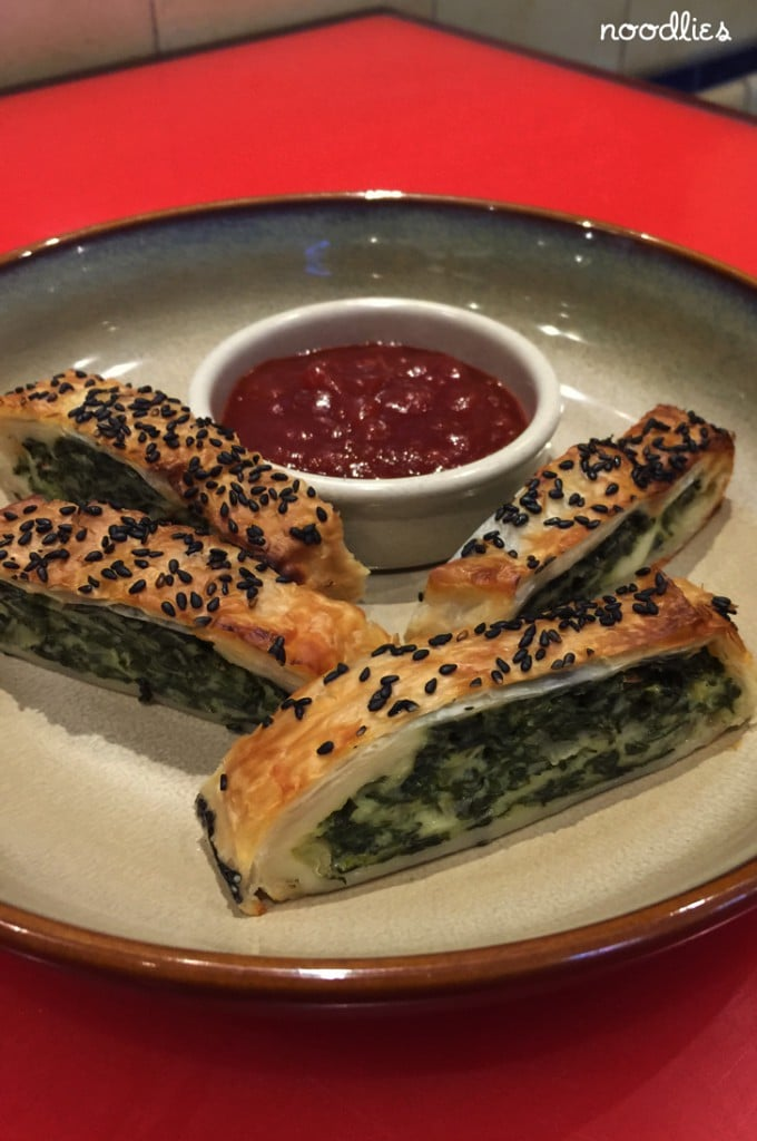 spinach haloumi sausage roll twofold, civic hotel