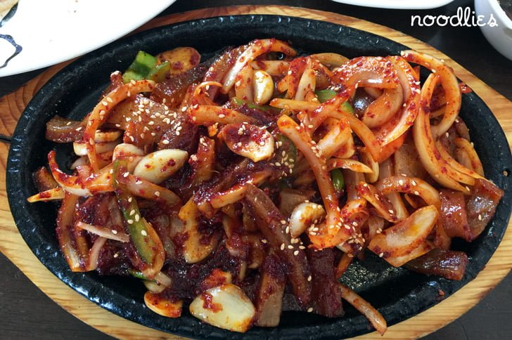 Palbok House Korean pork skin stir fry
