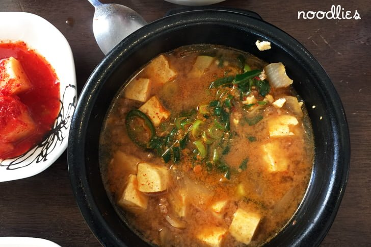 Palbok House Korean soy bean soup