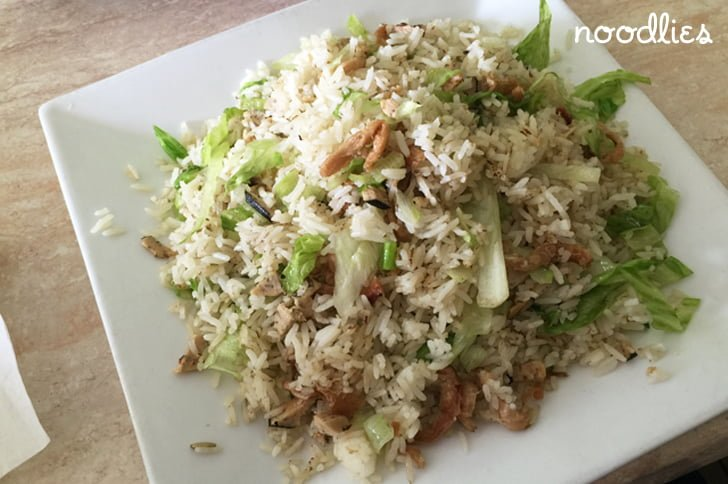 an lac vegetarian fried rice salted fish
