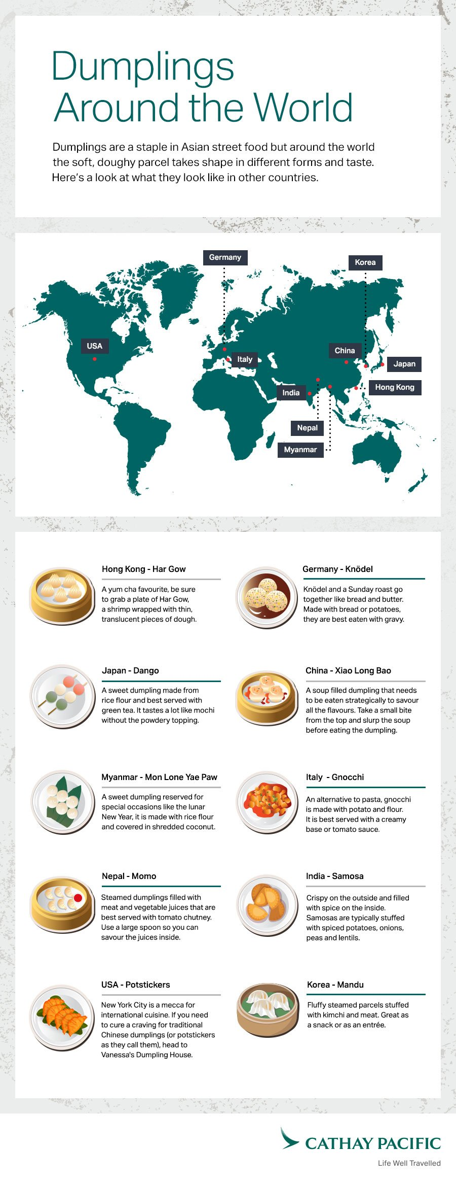Dumplings from around the world Cathay Pacific