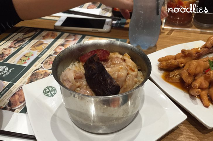 tim ho wan chatswood rice with chicken, sausage & mushroom